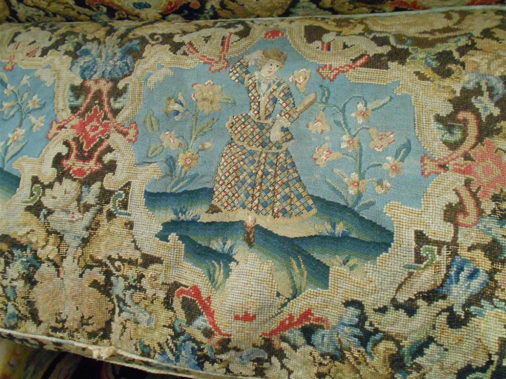 Late George III Needlepoint Settee