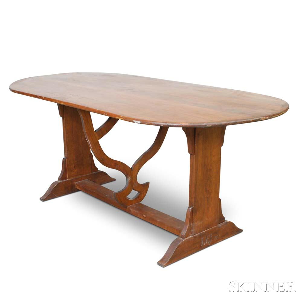Cherry Trestle-base Dining Table