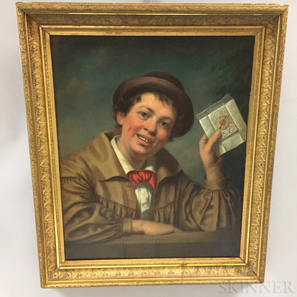 James Henry Beard (American, 1811-1893)      Boy with Valentine Card