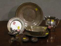 Eight Sterling Silver and Silver Plated Table Items