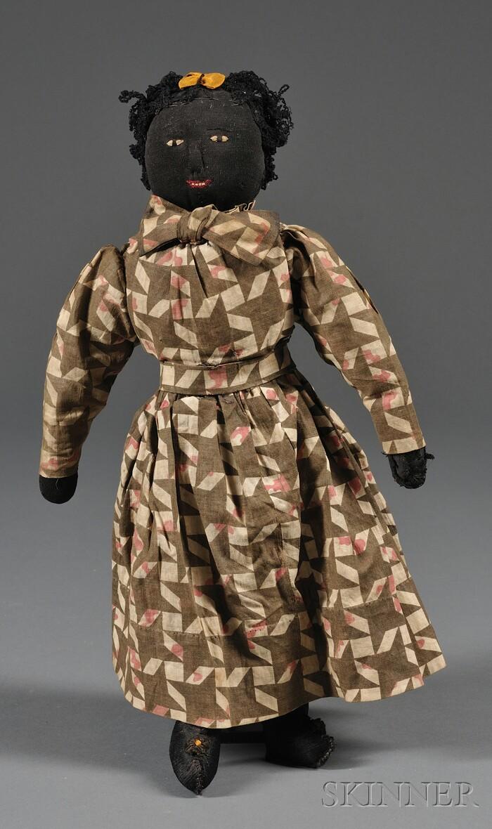 Handmade Black Lady Rag Doll