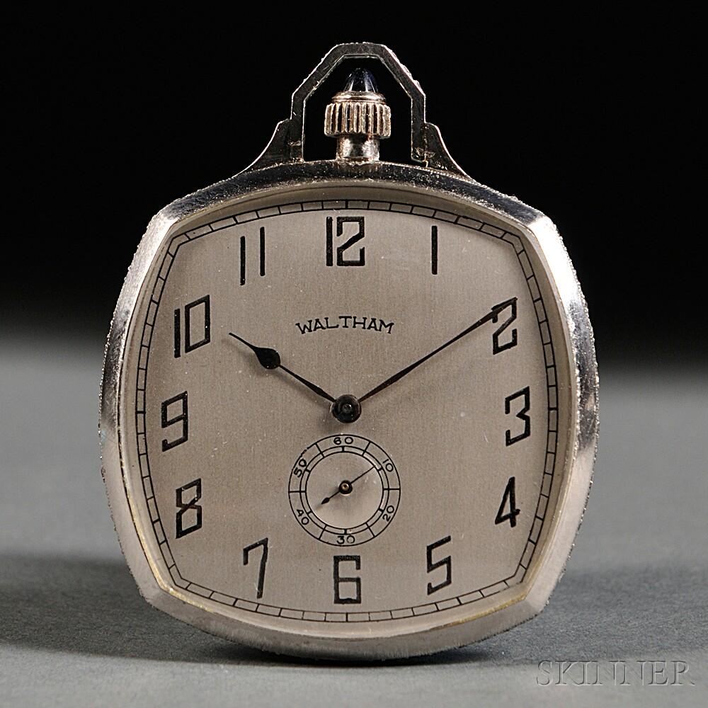 "Platinum Waltham ""Cushion Style"" Opera Watch"