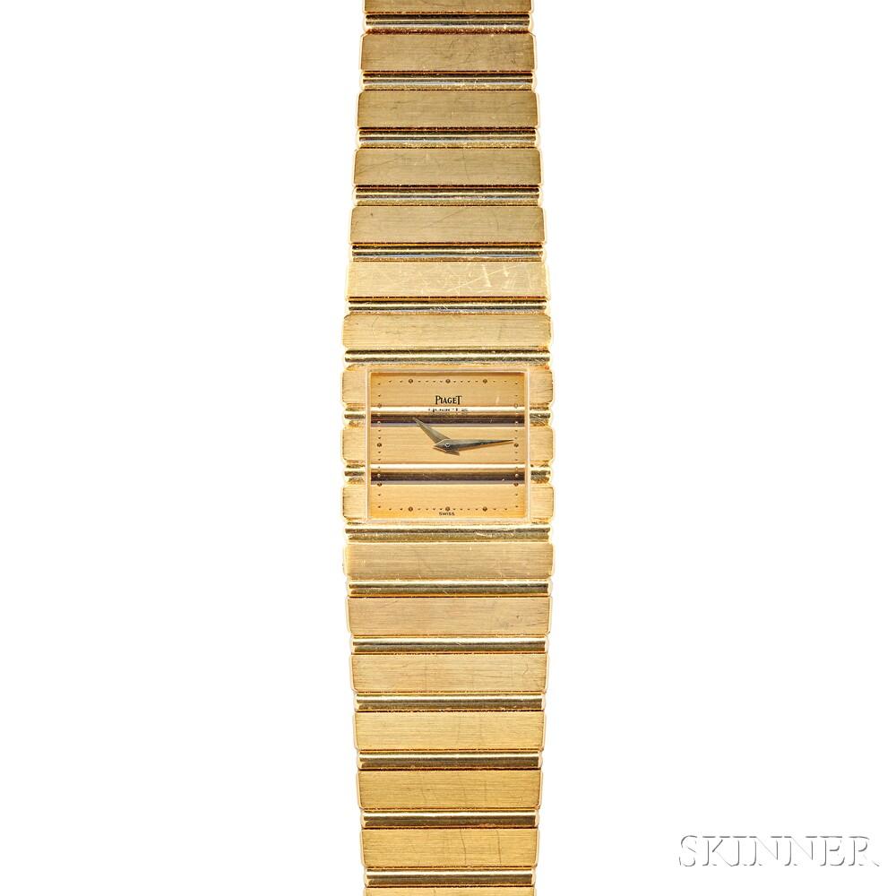 "18kt Gold ""Polo"" Wristwatch, Piaget"