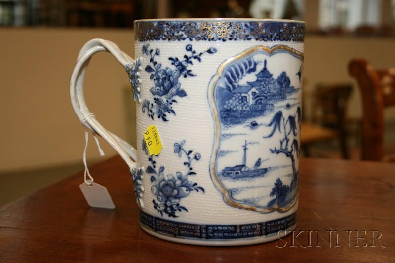 Nanking Blue and White Porcelain Tankard
