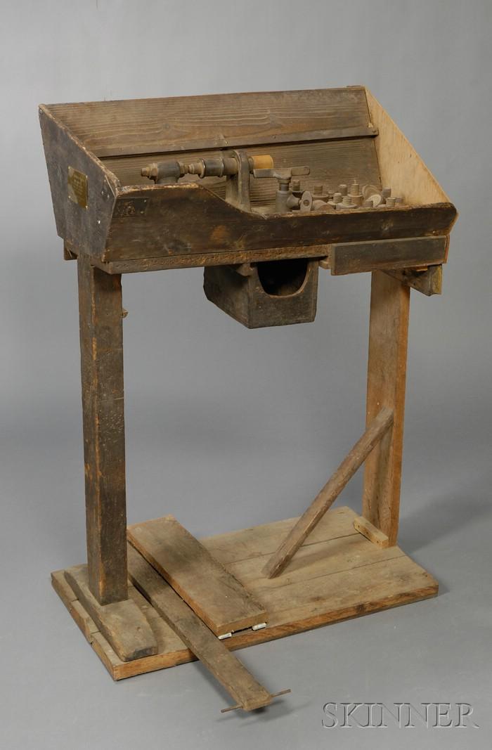 Pole Lathe from the Richard Oliver Casemaking Shop