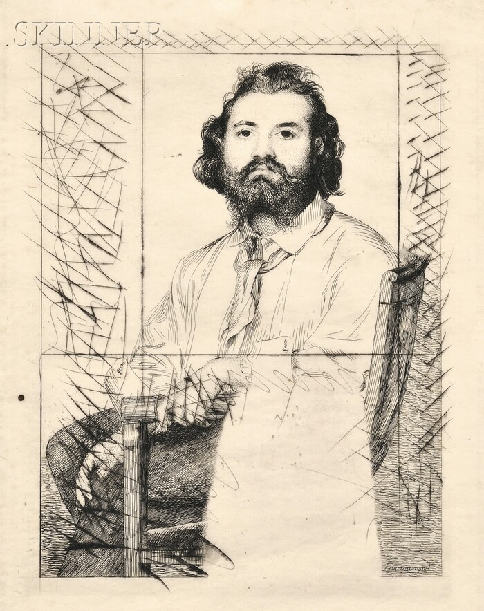 Félix Bracquemond (French, 1833-1914)      Portrait of Zacharie Astruc (1835-1907)