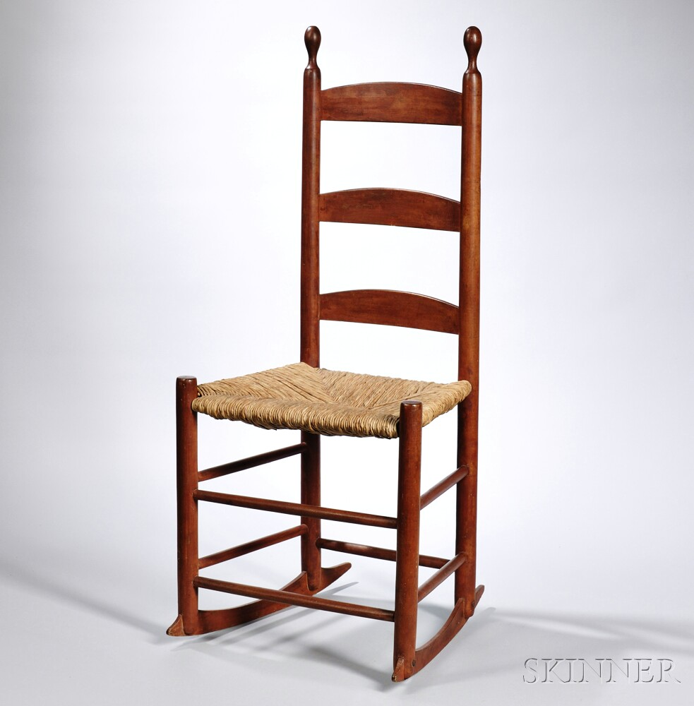 Shaker Red-painted Rocking Chair