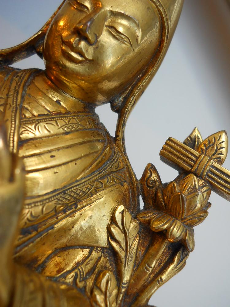 Gilt-bronze Figure of the Dalai Lama