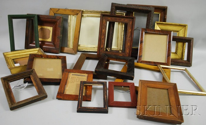 Approximately Twenty Small Wooden Frames