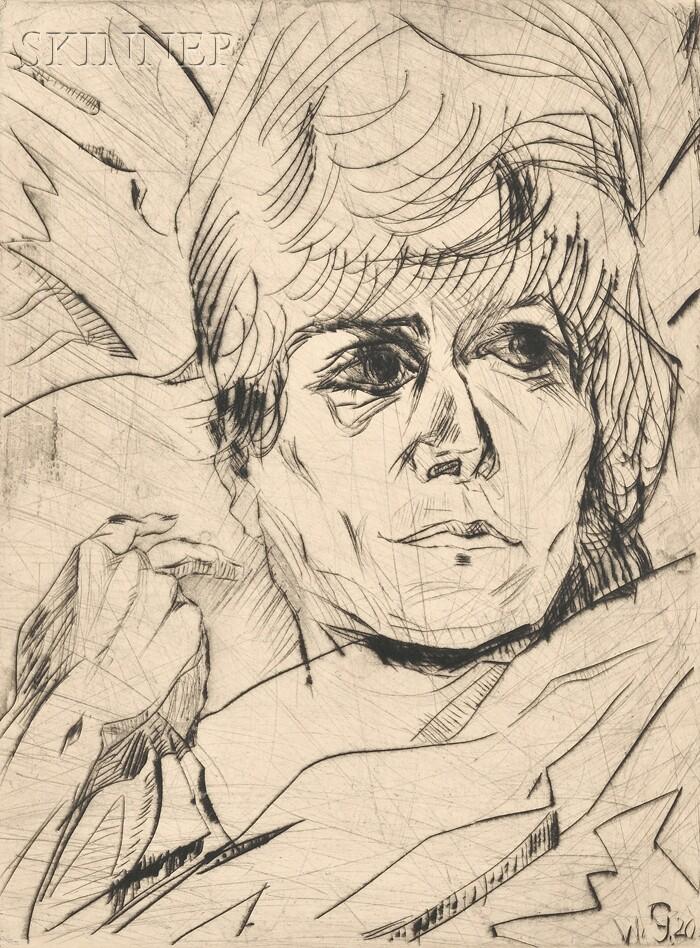 Walter Gramatté (German, 1897-1929)      Frau Hella