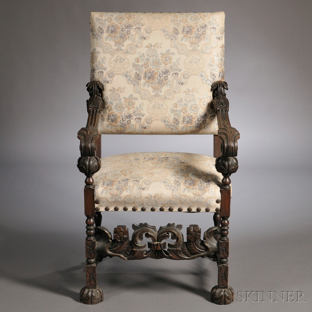 Charles II-style Walnut Armchair