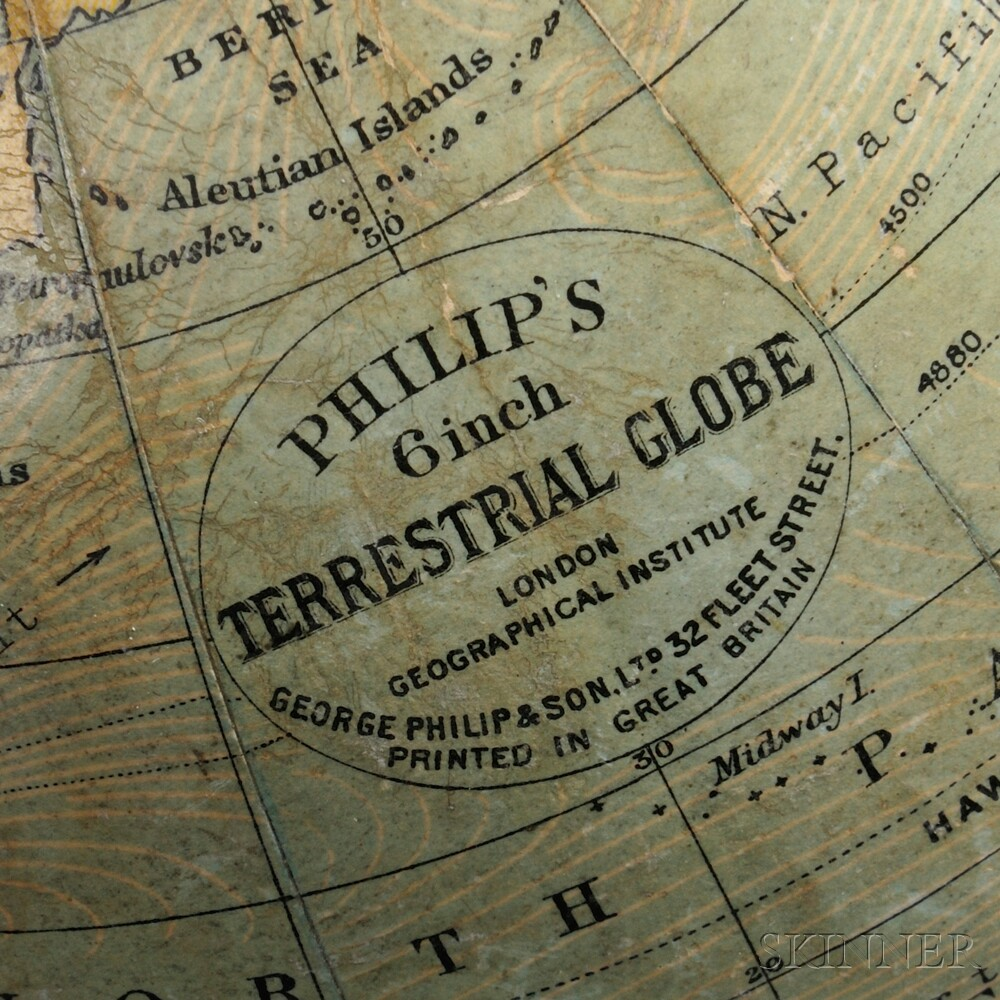 Philip's 6-inch Terrestrial Globe Clock