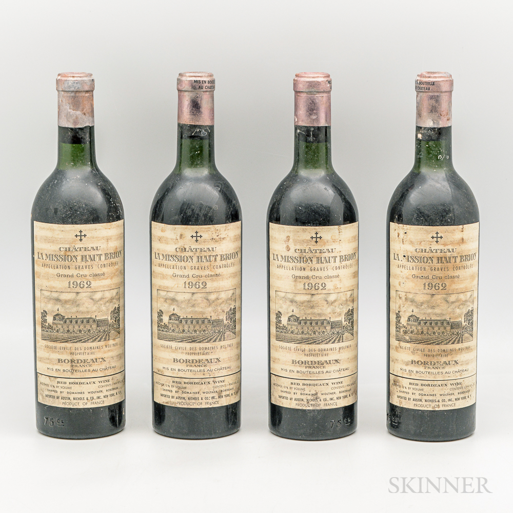 Chateau La Mission Haut Brion 1962, 4 bottles