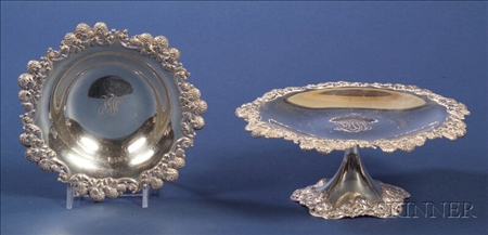 Two Tiffany & Co. Clover Decorated Tablewares