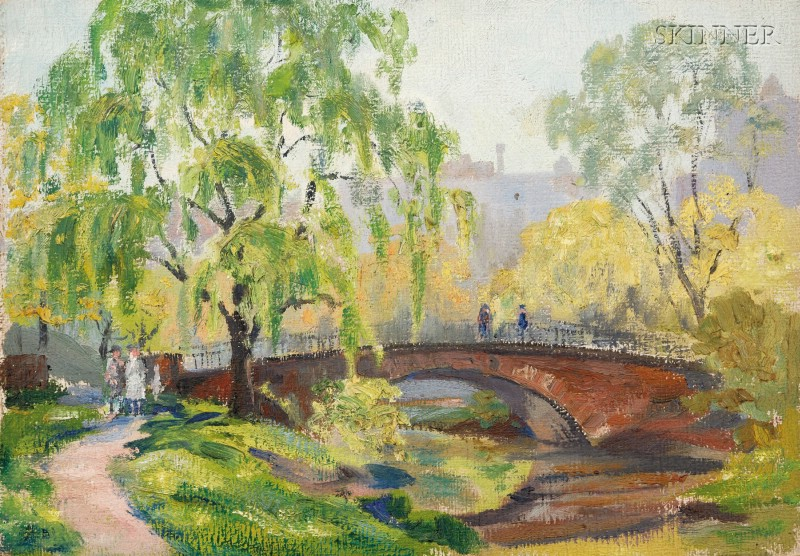 Elmer L. Ham (American, 1884-1978)      Lot of Three Landscapes:Fenway, Boston