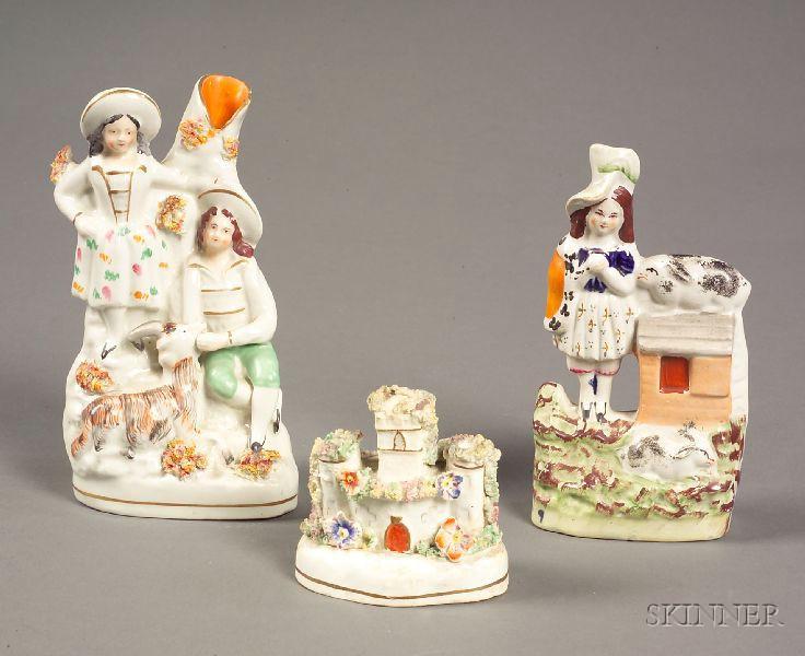 Three Staffordshire Earthenware Figures