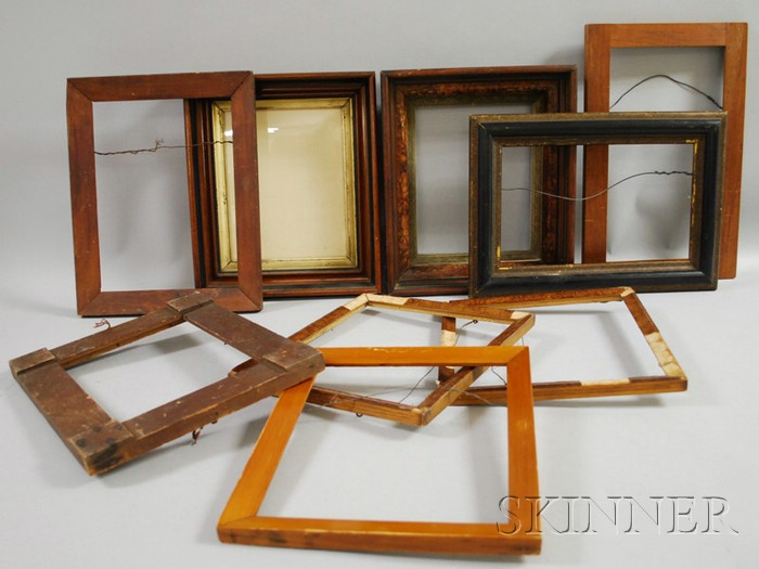 Nine Assorted Wood Frames