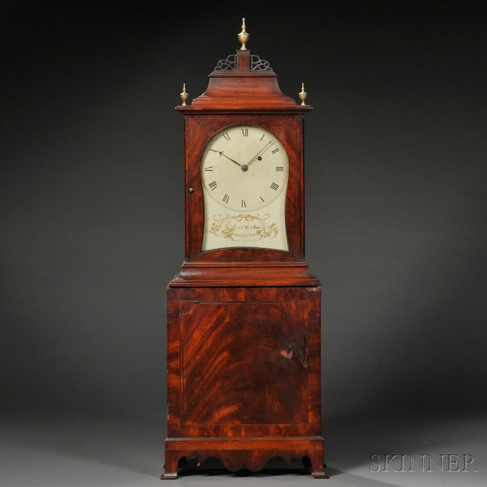 John Munroe Mahogany Shelf Clock