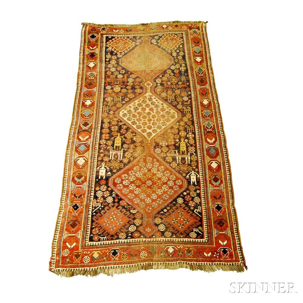 Northwest Persian Rug, Iran, c. 1900, 7 ft. 7 in. x 4 ft.  Estimate $200-250