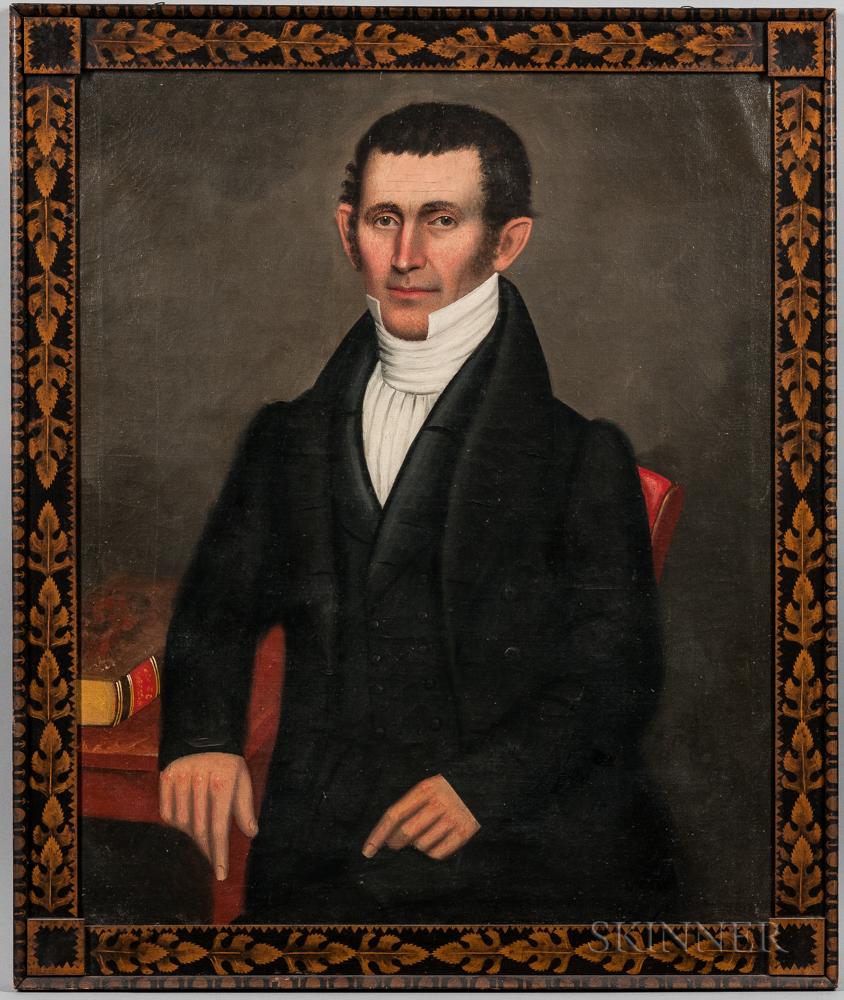 Erastus Salisbury Field (Massachusetts/New York, c. 1805-1900)      Portrait of Deacon Harlow Pease