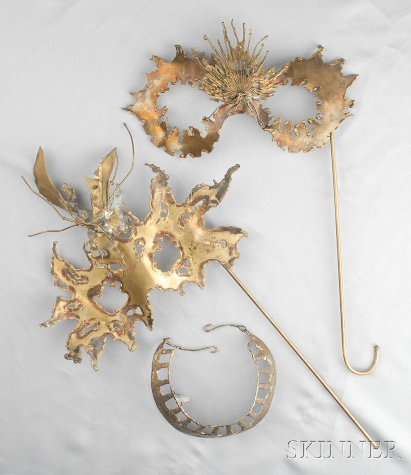 Two Metal Masks and a Neckpiece