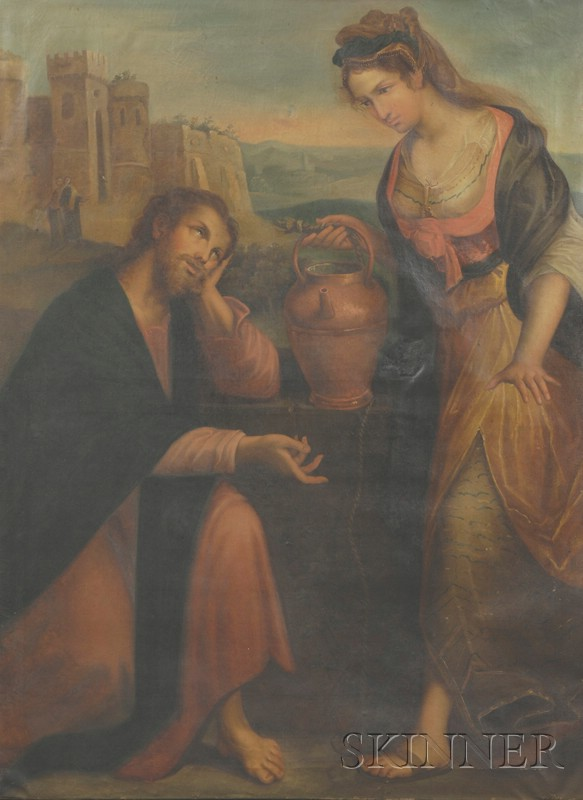 After Lavinia Fontana (Italian, 1552-1614)      Woman of Samaria at Well