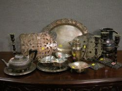 Sixteen Pieces of Sterling and Plated Silver Tableware