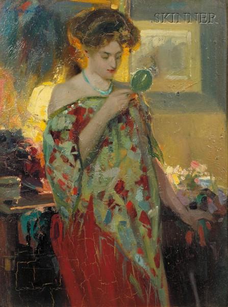 Ulisse Caputo (Italian, 1872-1948)      Coquetterie