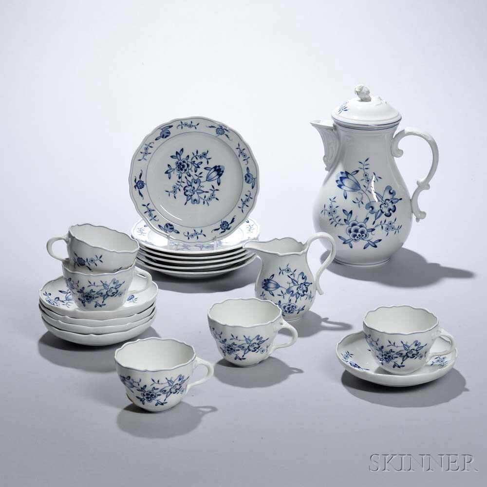 Assembled Meissen Porcelain Coffee Service