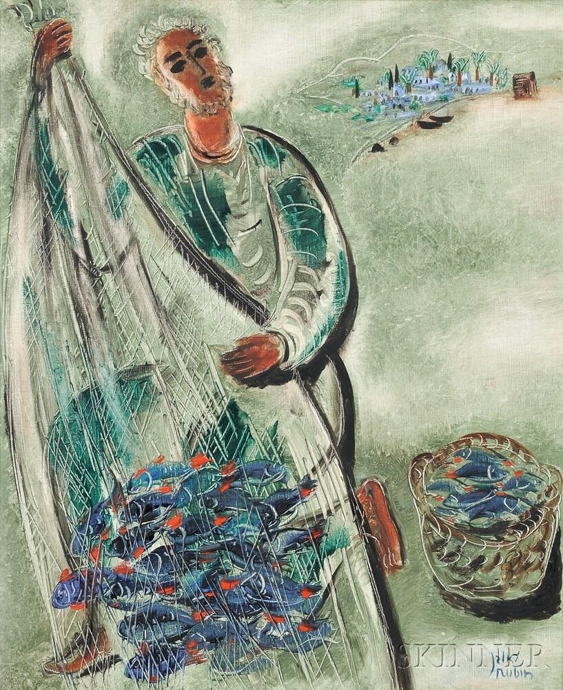 Reuven Rubin (Israeli, 1893-1974)      Fisherman