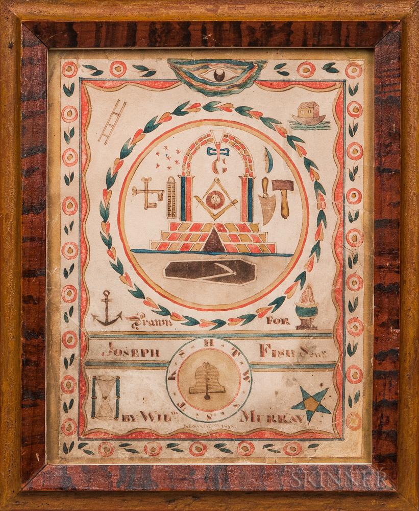 William Murray (Vermont, Early 19th Century)      Masonic Insignia