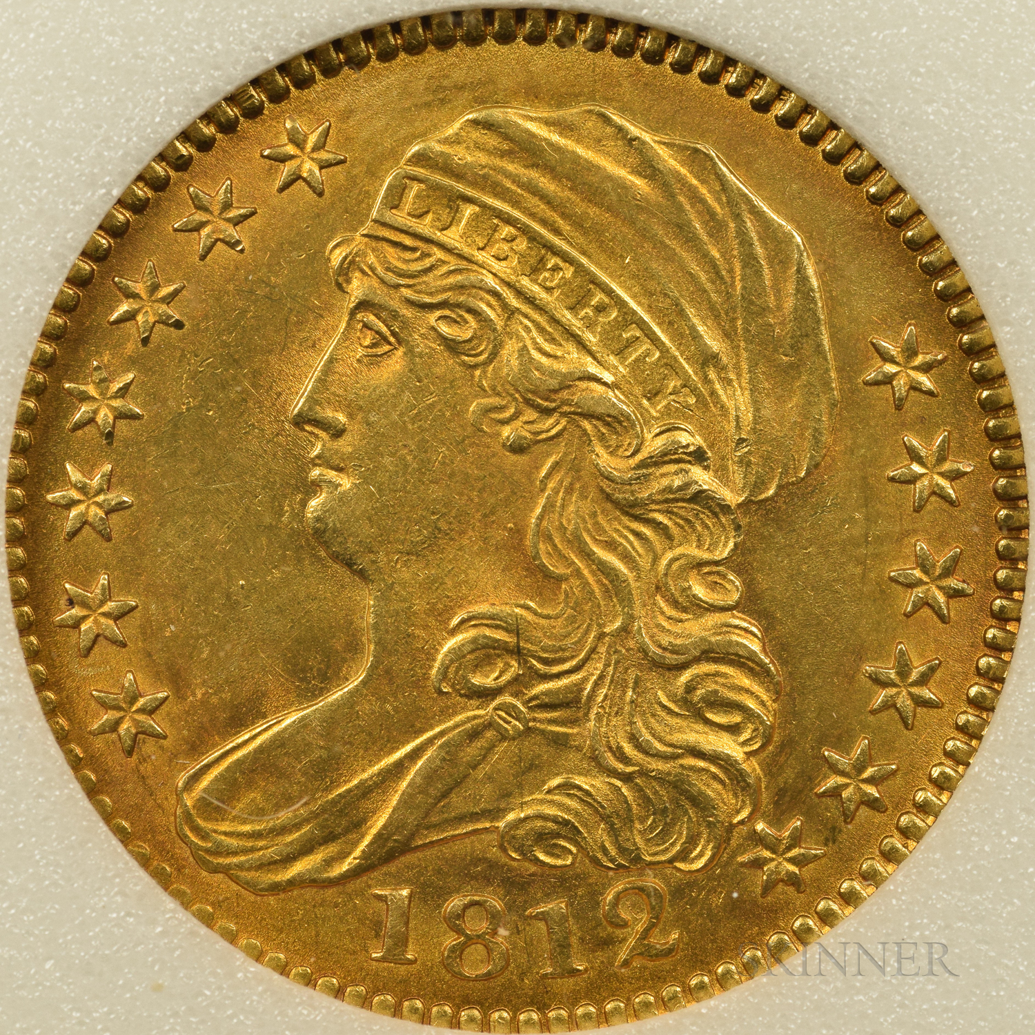 1812 Capped Bust Half Eagle, MS-63