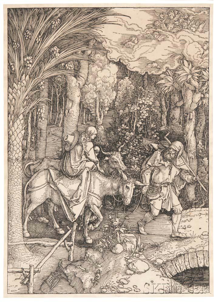 Albrecht Dürer (German, 1471-1528)      The Flight into Egypt