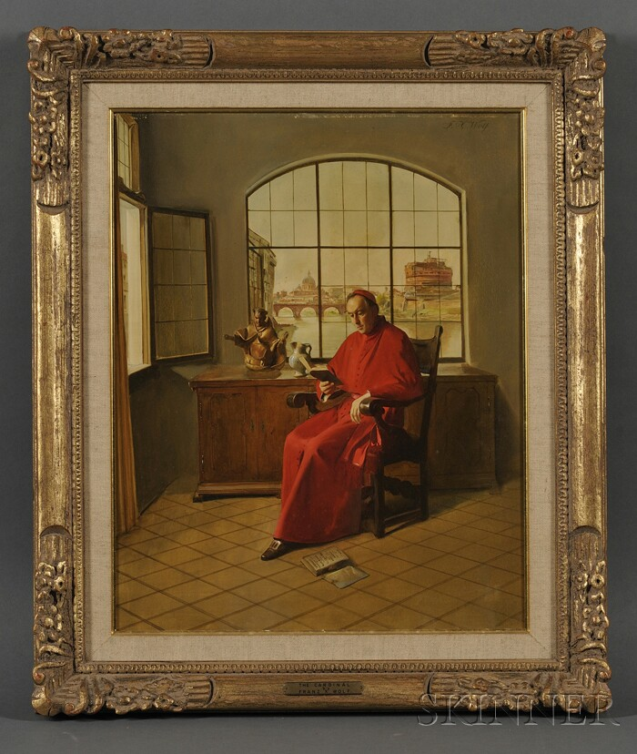 Franz Xaver Wolf (Austrian, 1896-1990)      The Cardinal