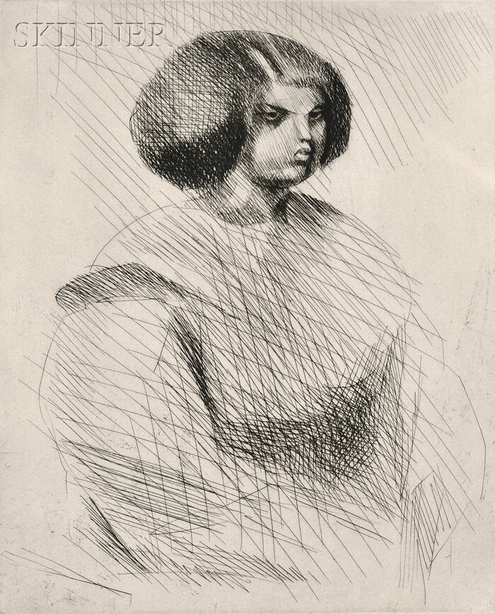 Jacques Villon (French, 1875-1963)      La petite mulâtresse
