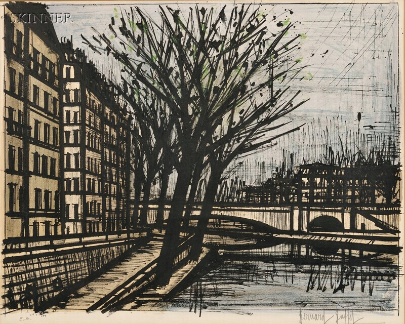 Bernard Buffet (French, 1928-1999)      Paris, L'Ile Saint-Louis