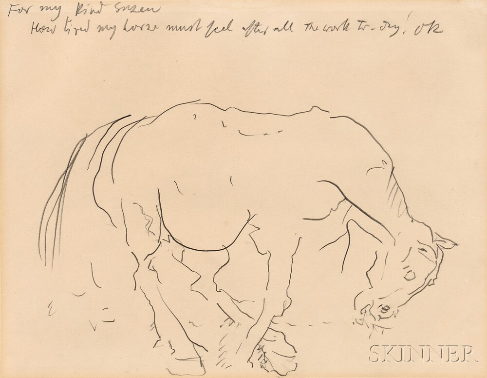 Oskar Kokoschka (German, 1886-1980)      How Tired my Horse Must Feel After All the Work To-day!