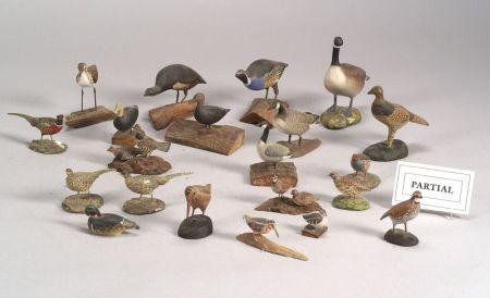 Twenty-three Assorted Miniature Bird and Waterfowl Figures