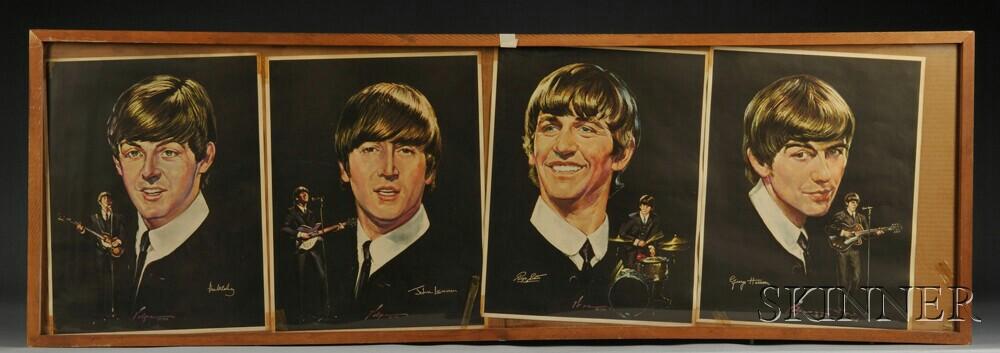 Complete Set of Four 1964 Beatles Portrait Posters