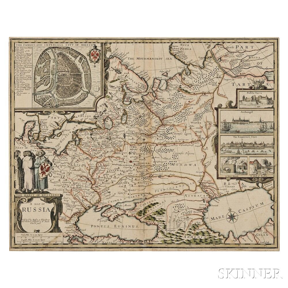 Russia. John Speed (1552-1629) A Map of Russia.