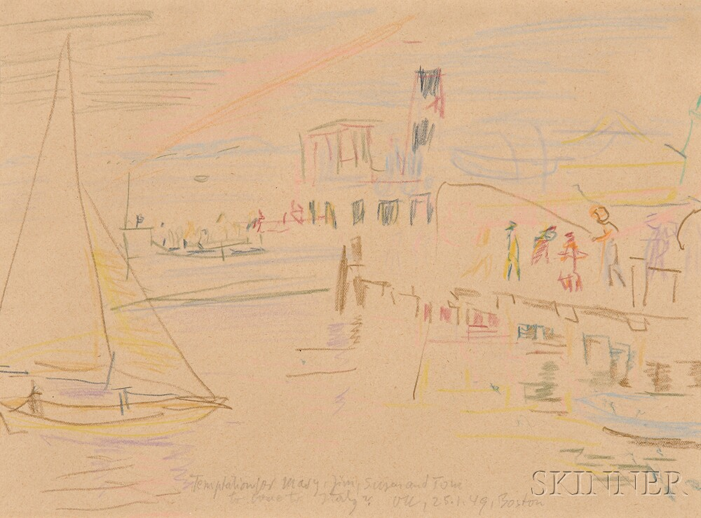 Oskar Kokoschka (German, 1886-1980)      Temptation for Mary, Jim, Susan and Tom to come to Italy?