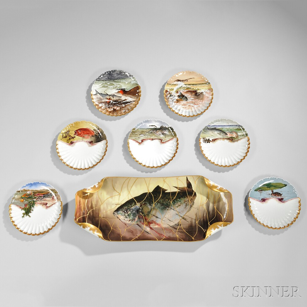 Thirteen-piece Rutherford B. Hayes Presidential Fish Service