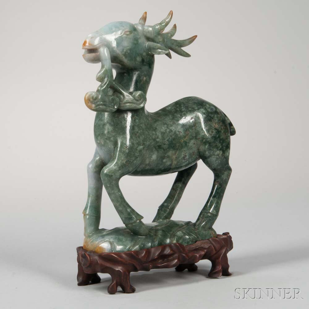 Hardstone Carving of a Goat