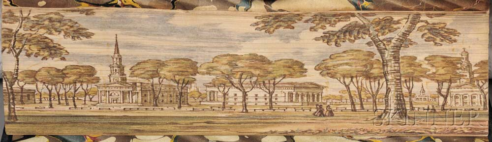Fore-edge Paintings, Harvard and Yale.