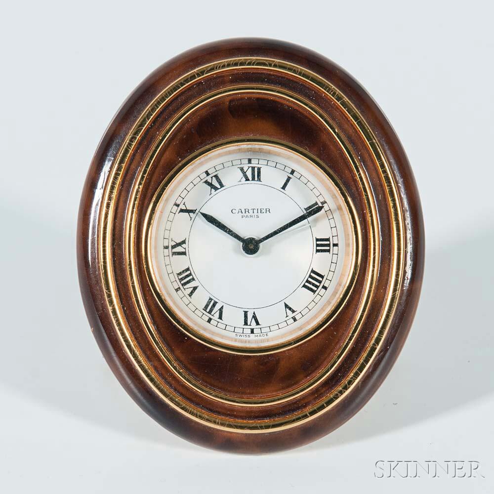 Cartier Enameled Desk Clock