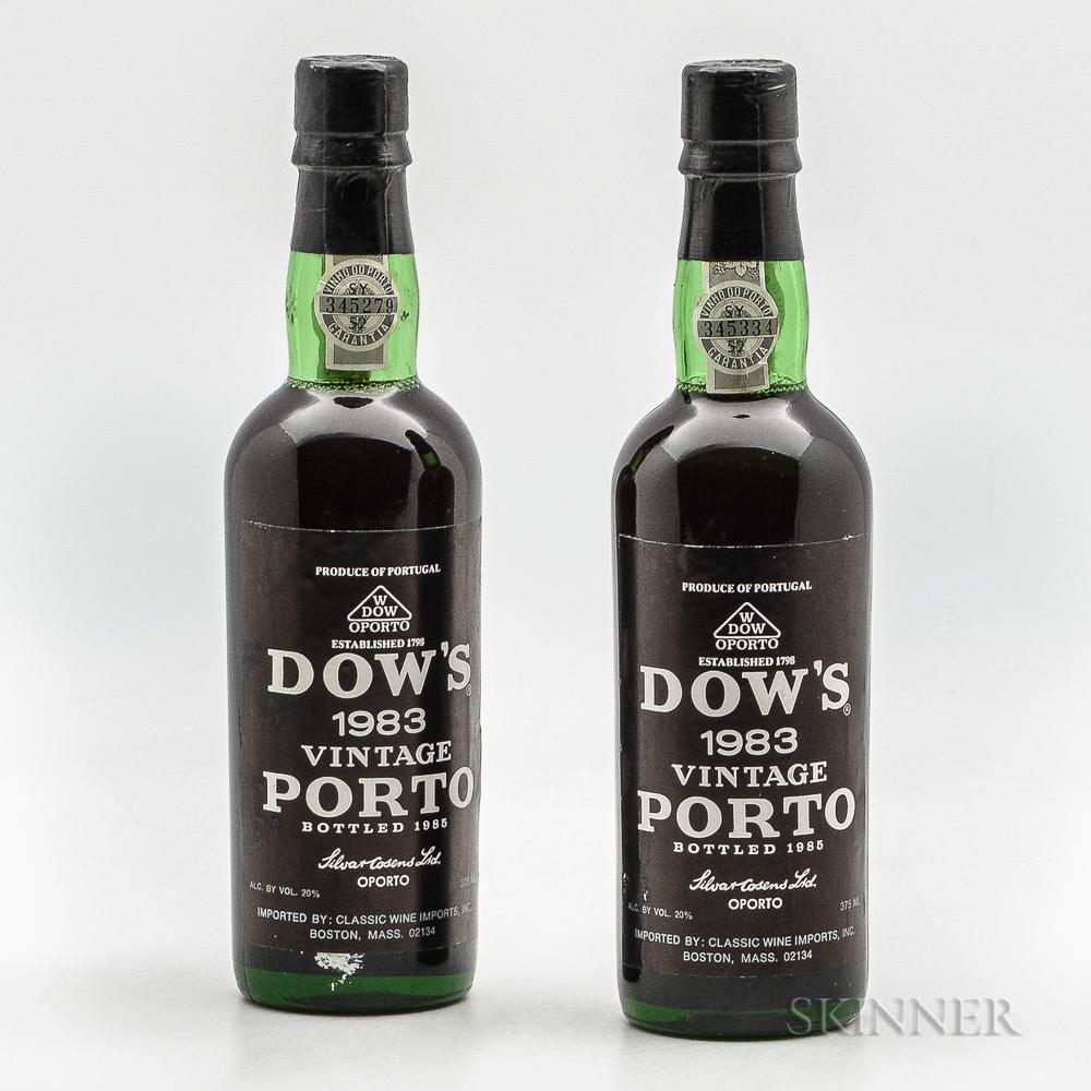 Dows Vintage Port 1983, 2 demi bottles
