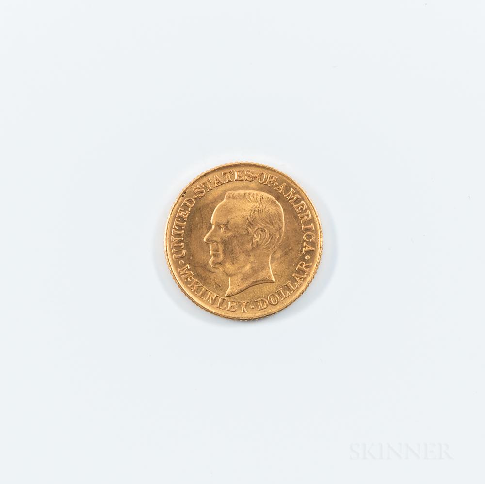 1916 McKinley Commemorative Gold Dollar.     Estimate $200-400