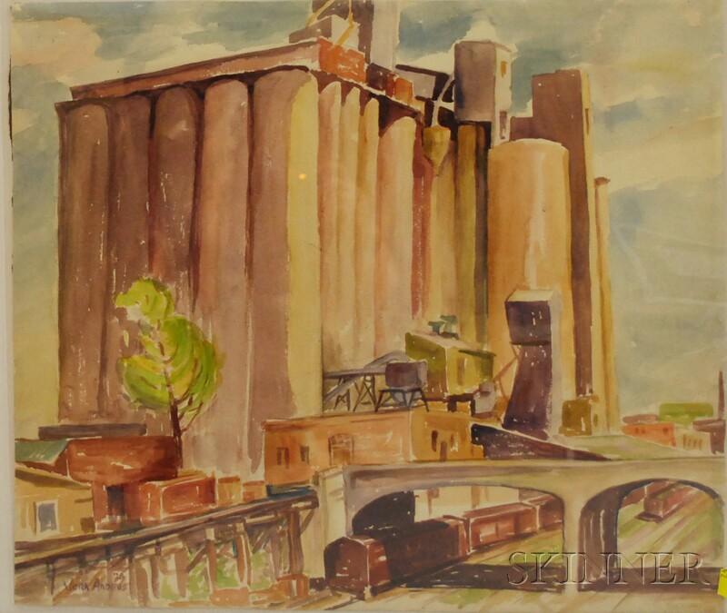 Vera Eugenia Andrus (American, 1896-1979)      Prairie Elevator