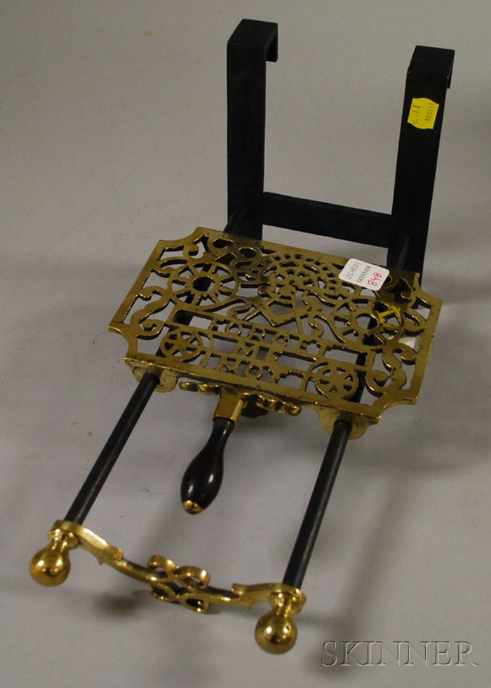 Masonic Brass and Iron Hearth Trivet