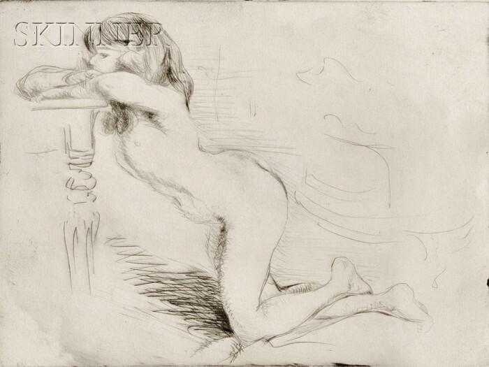 Jacques Villon (French, 1875-1963)      Fillette agenouillée